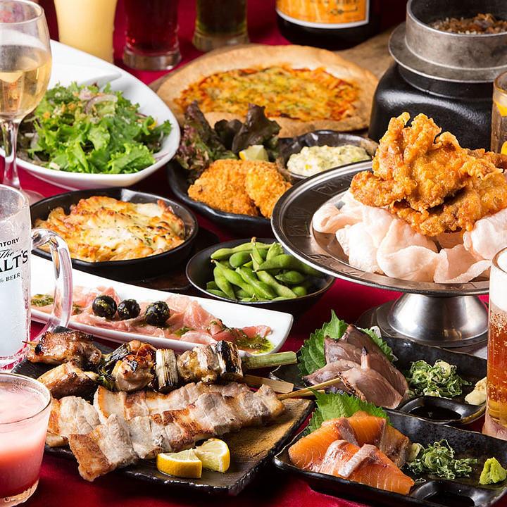 【炭火焼鳥酒家 ごちや 天神店】の食べ飲み放題コース