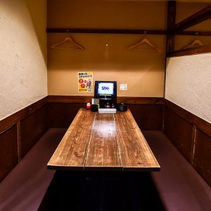 天神駅近くの居酒屋炭火焼鳥酒家 ごちや 天神店の半個室空間