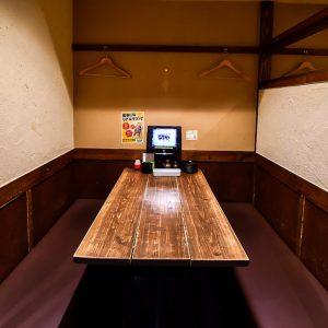 天神の居酒屋【炭火焼鳥酒家 ごちや 天神店】の半個室