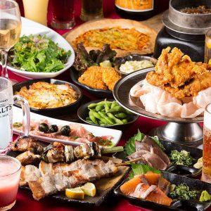 小倉の居酒屋【炭火焼鳥酒家 ごちや 天神店】で食べ飲み放題